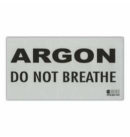 Halcyon ARGON: DO NOT BREATHE Warning Decal