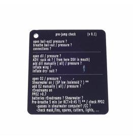 rEvo Rebreathers rEvo checklist, engraved, with bolt snap