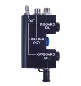 rEvo Rebreathers rEvo Manual Gas Addition Block - no orifice