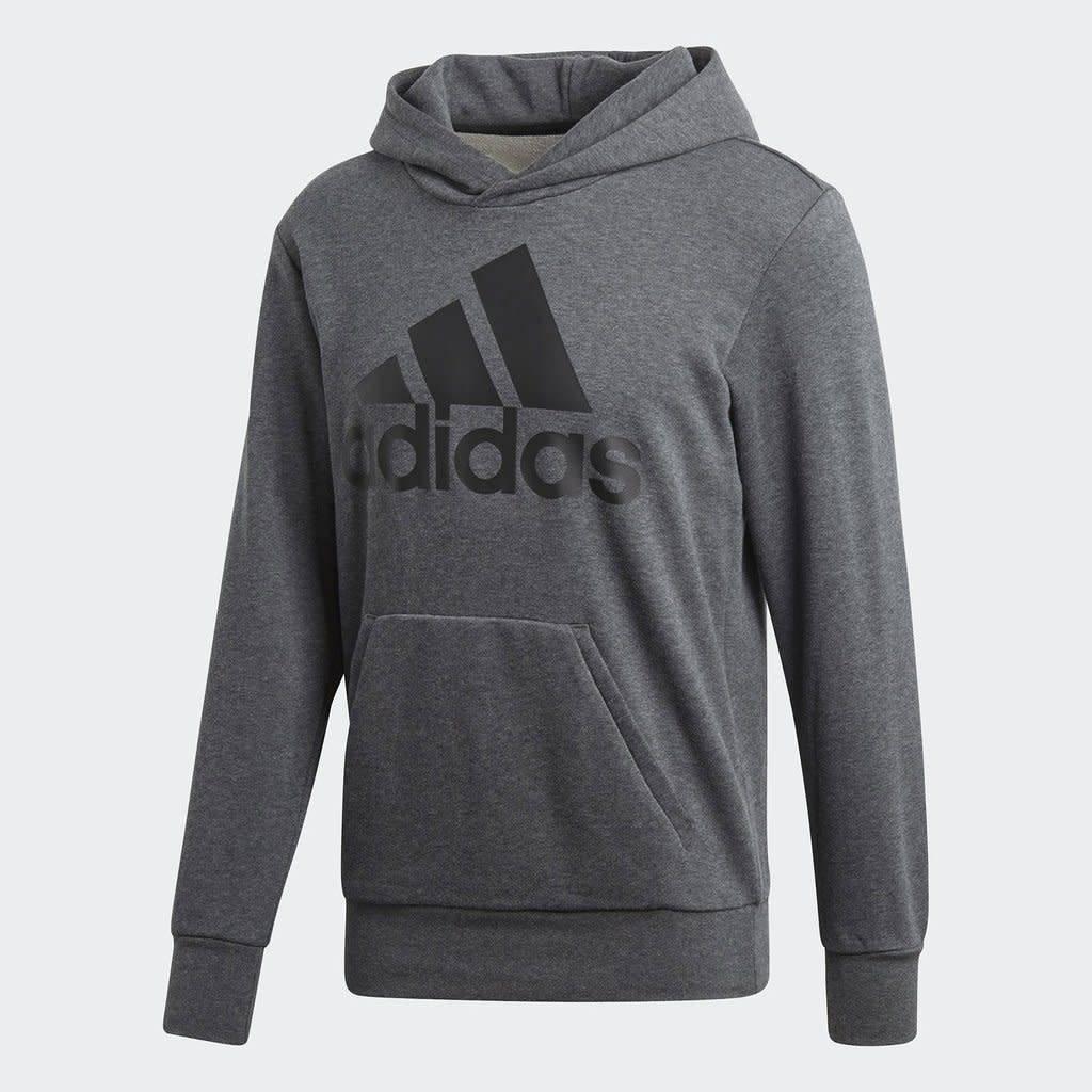 Adidas ESSENTIAL LINEAR PULLOVER HOODIE MEN GREY