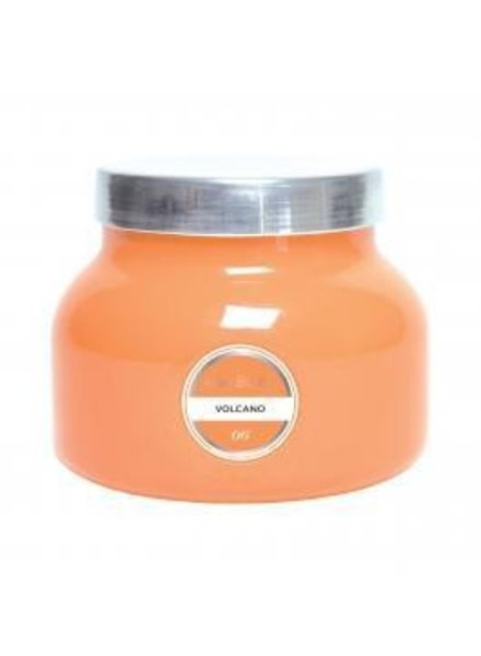Ivy Stone Capri Blue Orange Signature Jar in Volcano