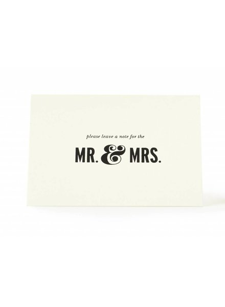 Kate Spade Notes to The Bride and Groom