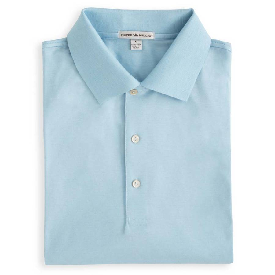 Peter Millar Solid Cotton Lisle w/ Knit Collar