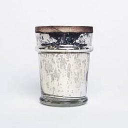 Mercury Found Glass Candle