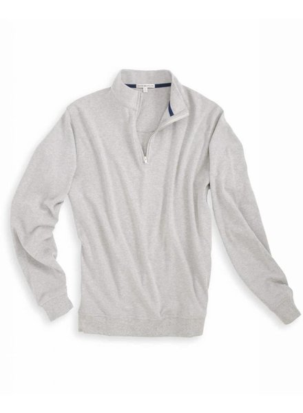Peter Millar Heather Interlock 1/4 Zip Grey Pullover