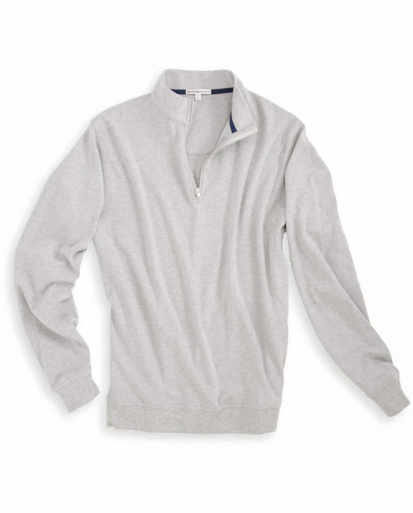 Peter Millar Heather Interlock 1/4 Zip Grey Pullover