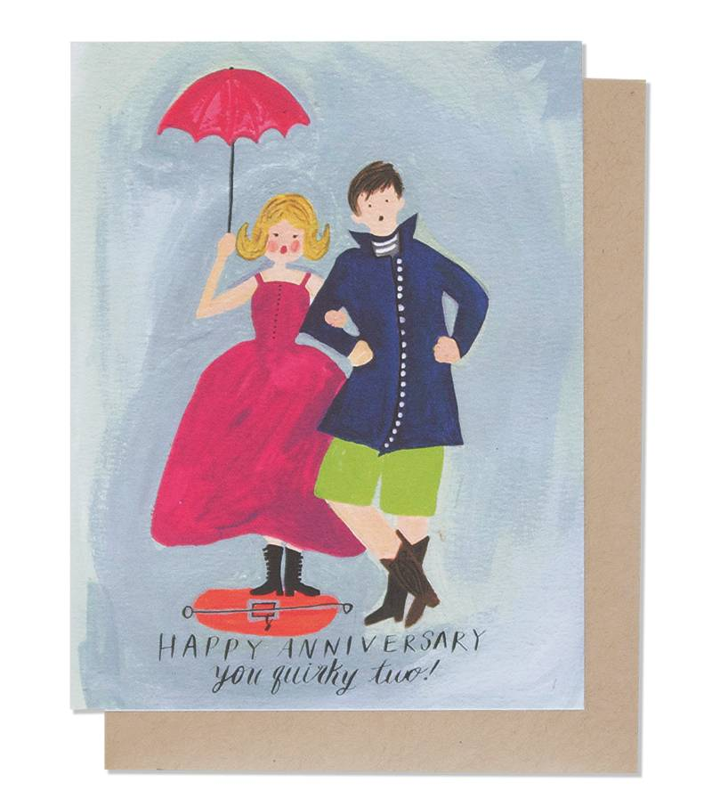 Quirky Couple Anniversary Card