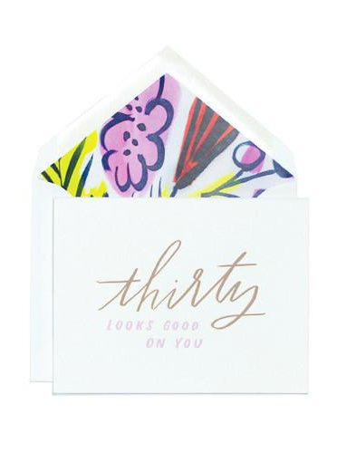 Thirty Looks Good On You Greeting Card
