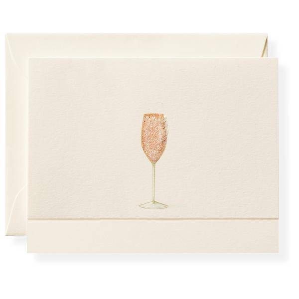 Pink Champagne Note Card