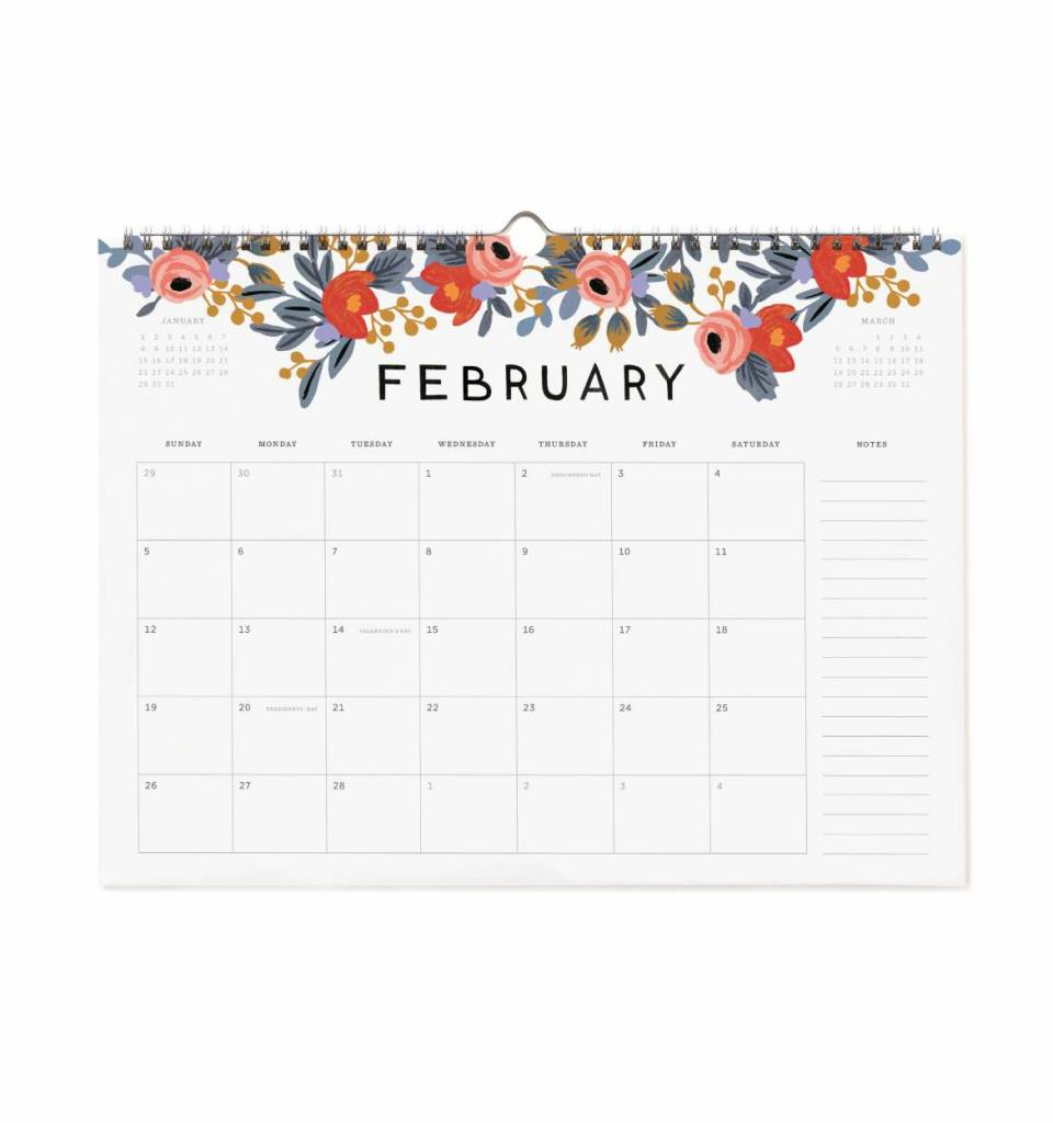 Rifle Paper Co. 2017 Appointment Calendar - Wooden Nickel