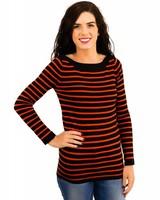 Boatneck Striped Sweater