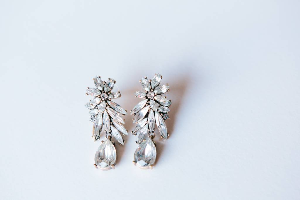 5 O'clock Earring in Winter Crystal