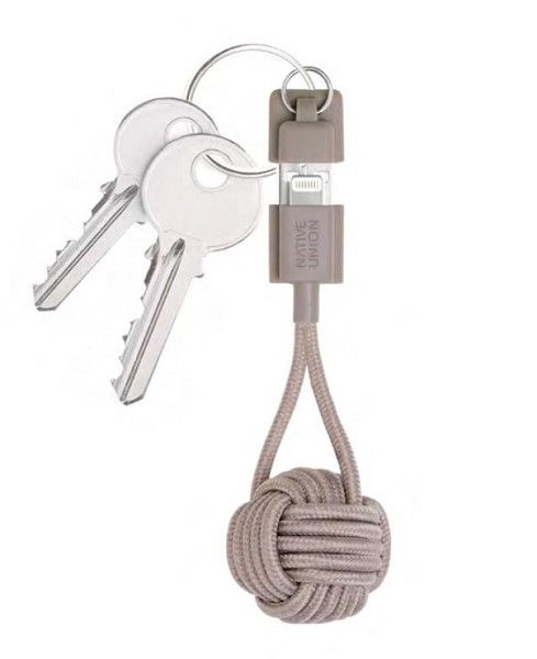 Native Union Taupe Lightning Key Cable