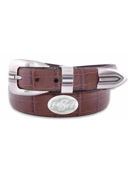 OSU Concho Croc Leather Belt