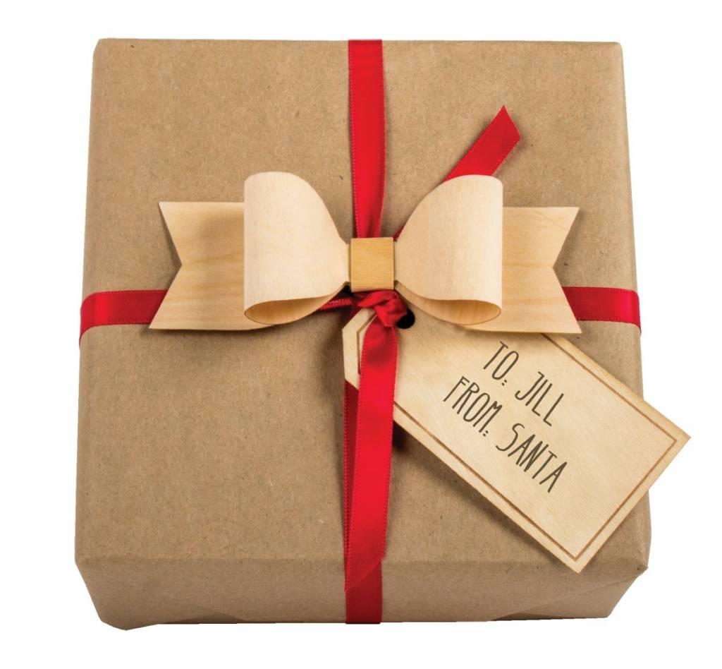 Gift Wrap Wood Bows Set