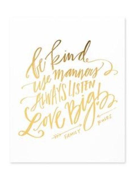 Emily Ley Family Rules Art Print