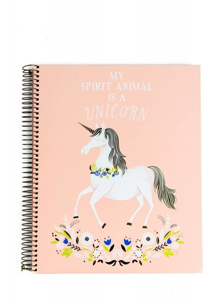 Waste Not Paper My Spirit Animal Is A Unicorn Notebook