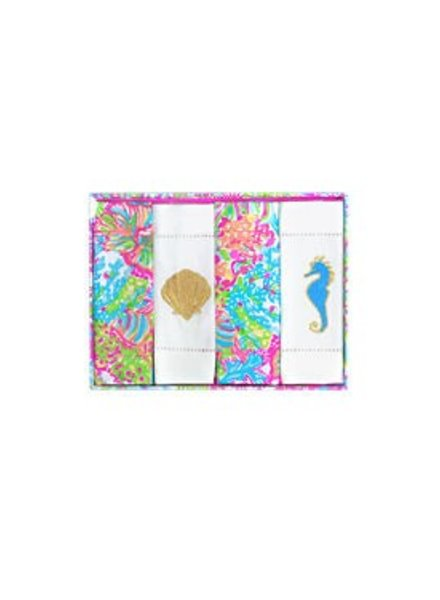 Lilly Pulitzer Lovers Coral Cocktail Napkins