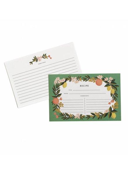Rifle Paper Citrus Floral Recipe Card Set (12)