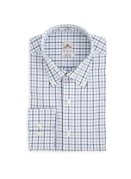 Peter Millar Nanoluxe Twill Multi Tattersall Sport Shirt