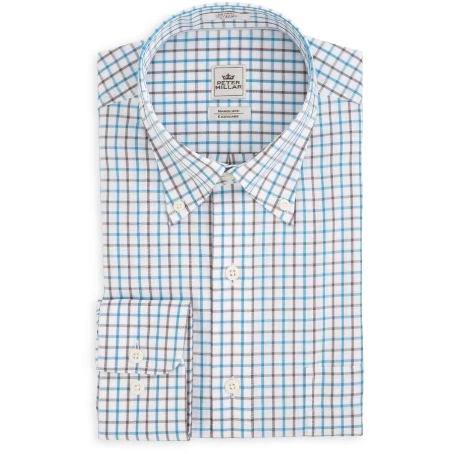 Peter Millar Nanoluxe Twill Multi Tattersall Sport Shirt