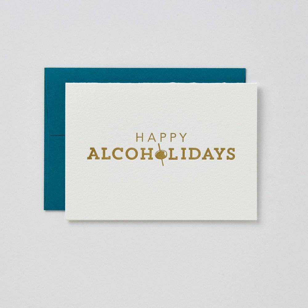 Farewell Paperie Happy Alcoholidays Greeting Card