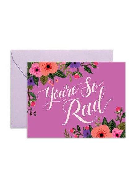 Fox & Fallow You're So Rad Greeting Card