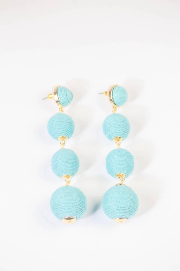 Small Bon Bon Earring - Sky Blue