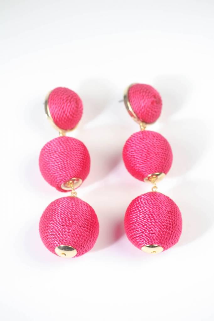 Large Bon Bon Earring - Pink