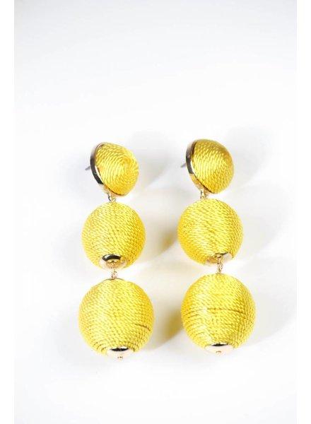 Large Bon Bon Earring - Yellow
