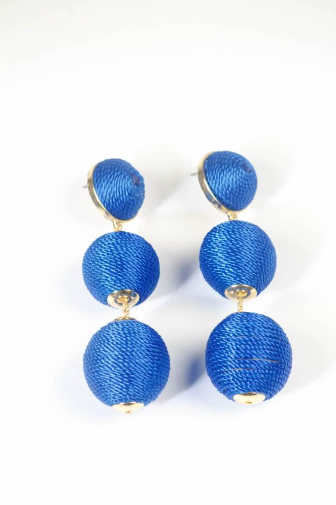 Large Bon Bon Earring - Blue