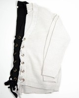 Laced Up V-Neck Sweater