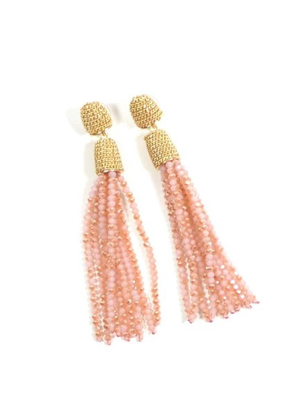 Sparkle Tassel Earring - Pink