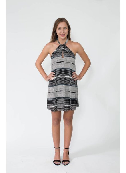 Tyche Halter Stripe Dress