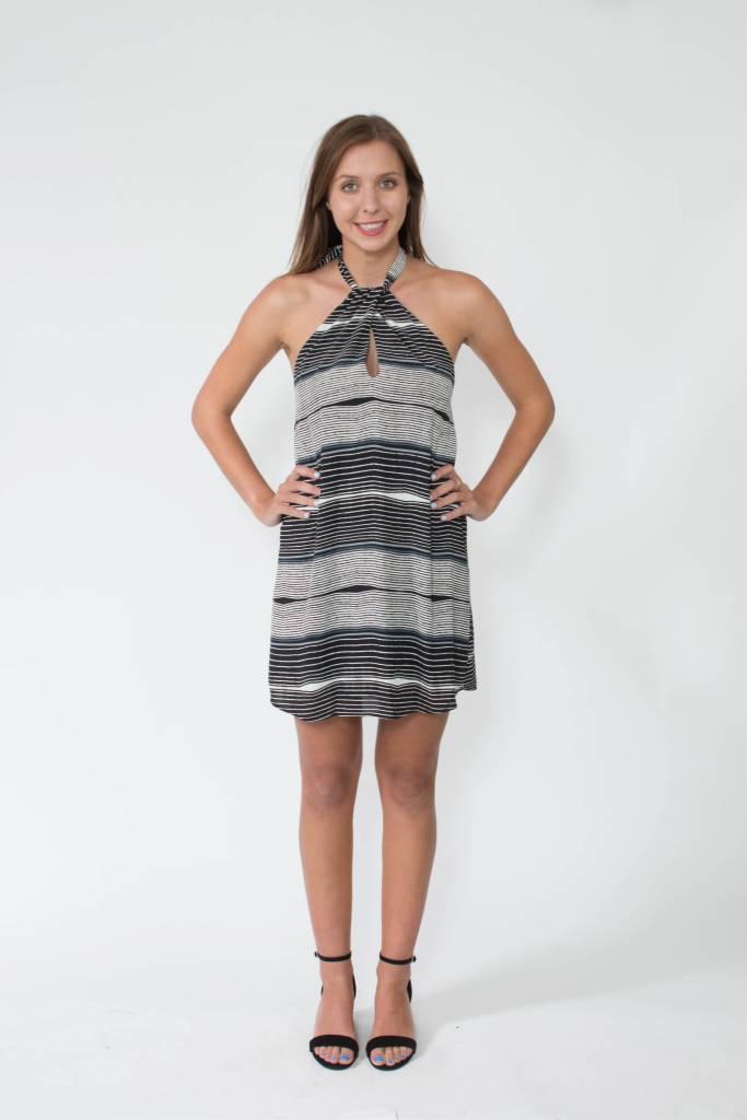 Tyche Halter Stripe Dress