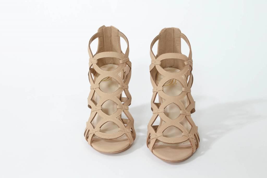 Cage Block Heel Sandal
