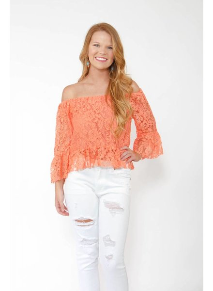 DO + BE Lace Frill OTS Top
