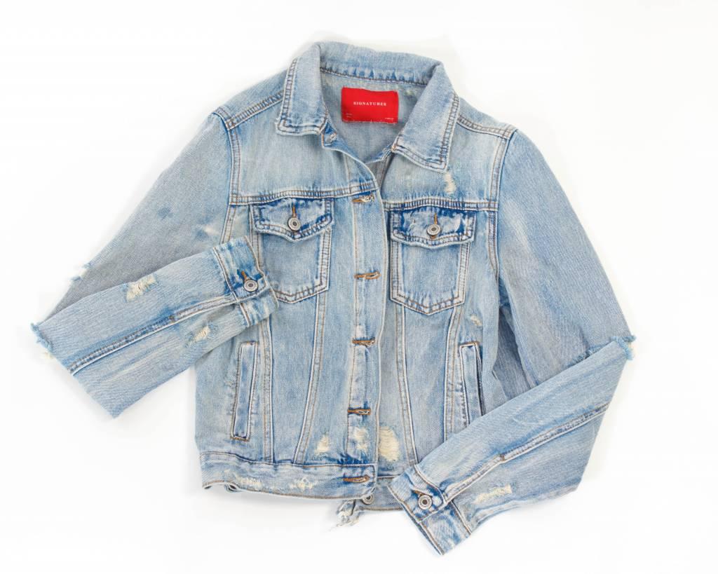 Distressed Vintage Jean Jacket