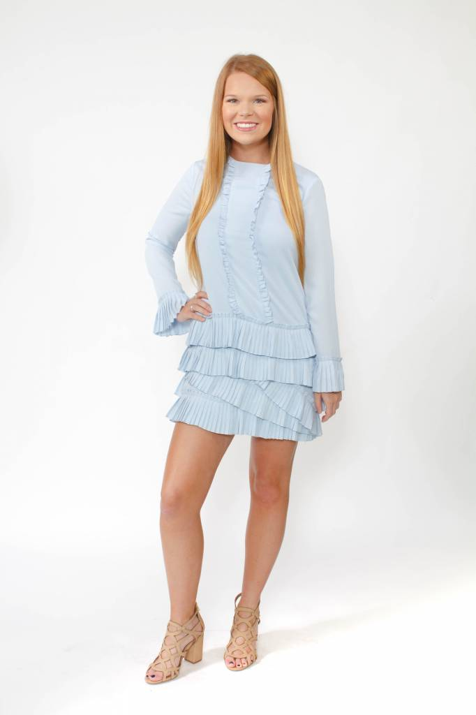 English Factory Ruffled L/S Dress