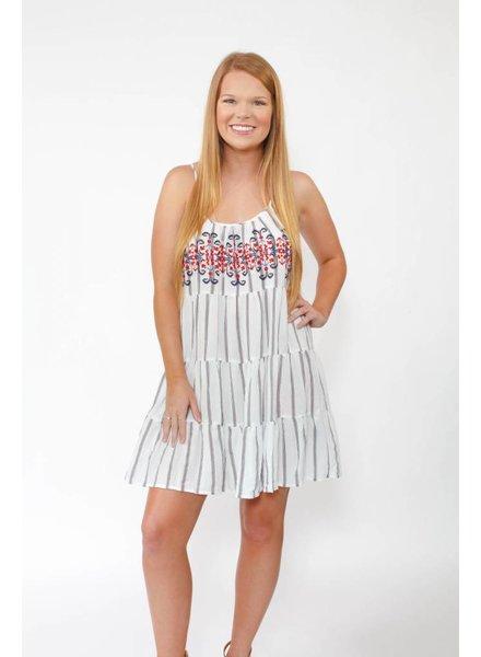 Embrd. Tiered Dress