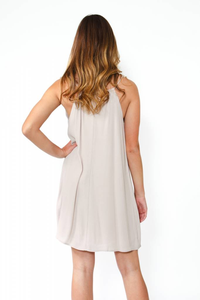 Embroidered Shift Dress