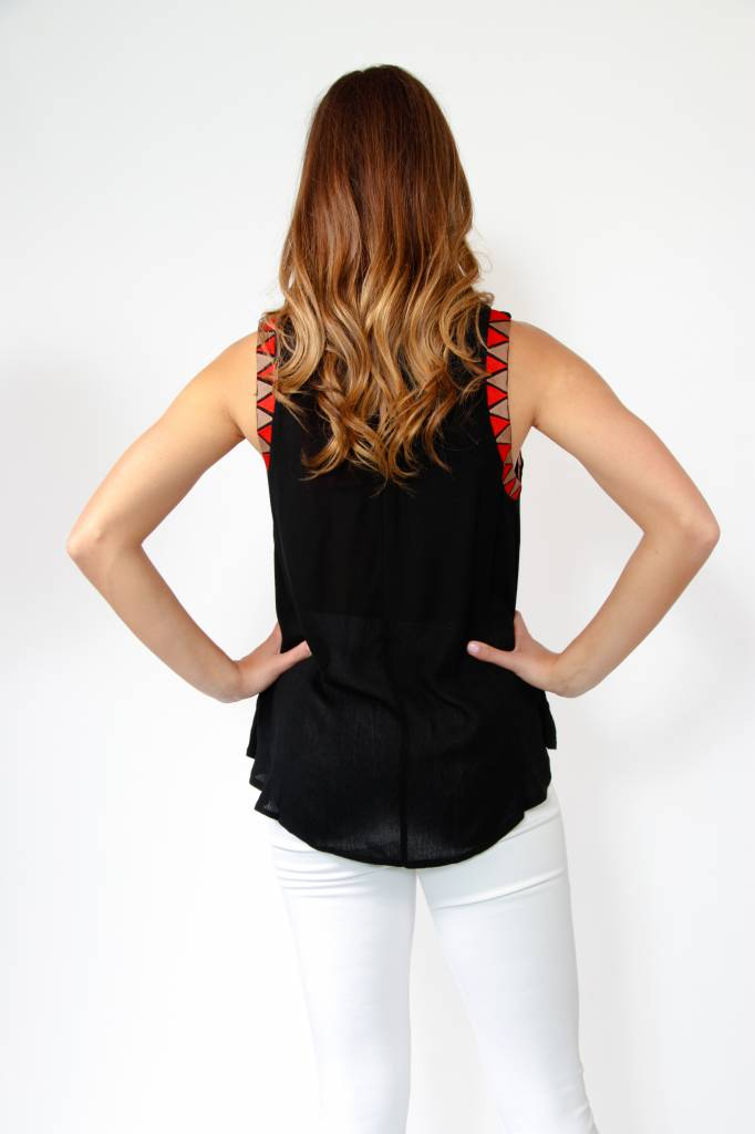 THML S/Less Embroidered Top
