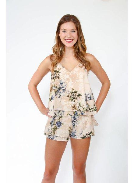 Sage Clothing Wallpaper Floral Short