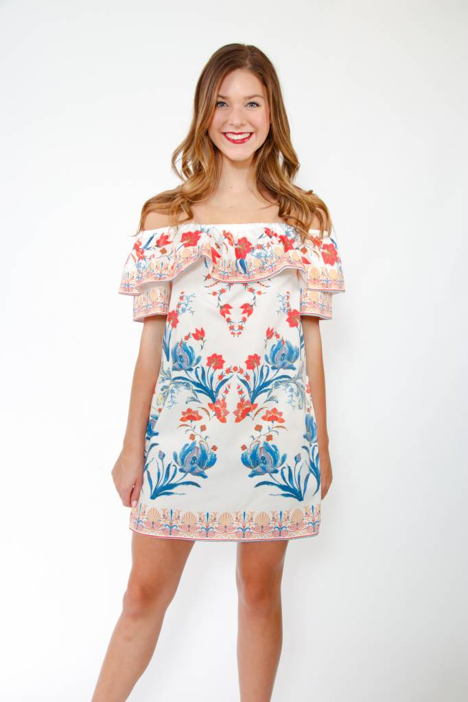 OTS Floral Shift Dress