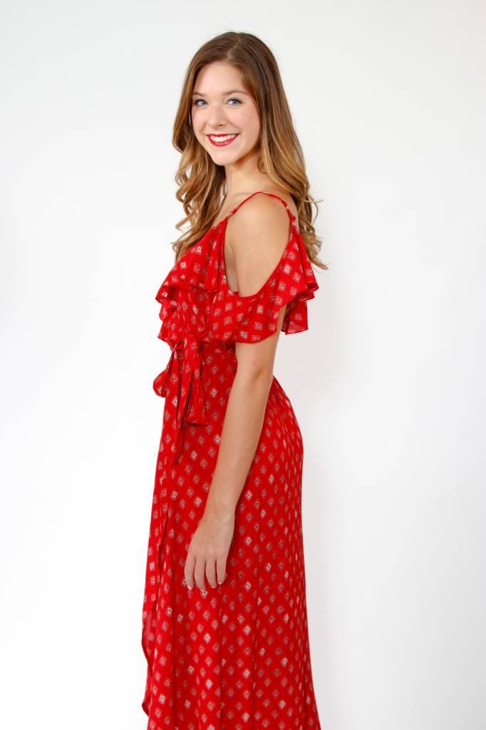 Foulard Faux Wrap Dress