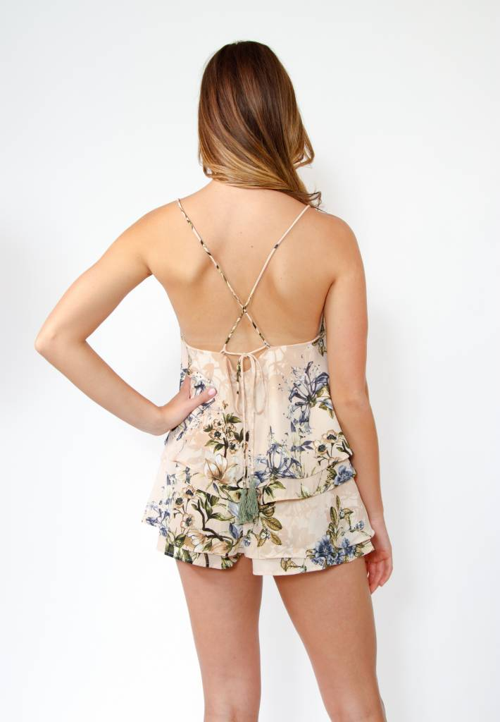 Sage Clothing Wallpaper Floral Top