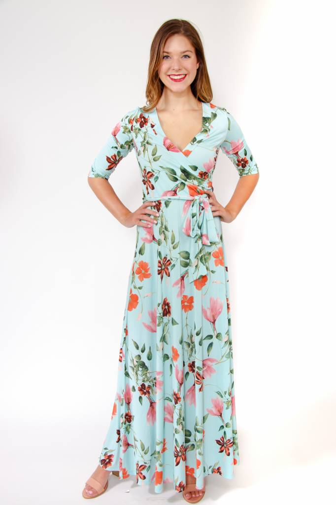 Venechain Maxi Wrap Dress