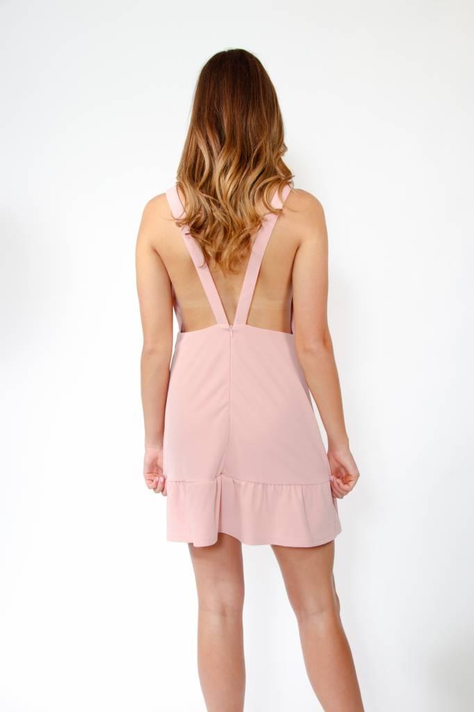 Plunging Neck Mini Dress