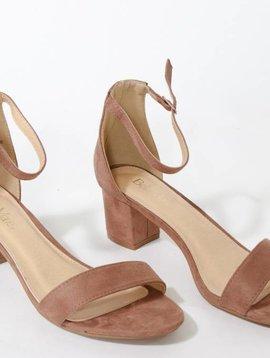 Taupe Block Heel Sandal
