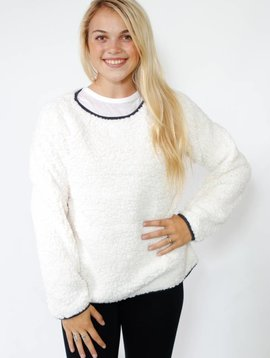 True Grit Dylan  Shoulder Crew Sweater